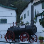 Antique Steam Engine Stalled in Front of the Kasauli Brewery
