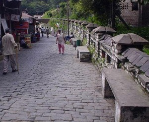 Cobbled market of Kasauli