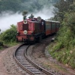Toy train passing by Jabli Kasauli